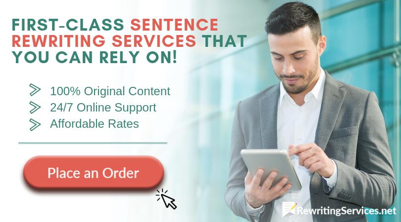 professional sentence rewriter online