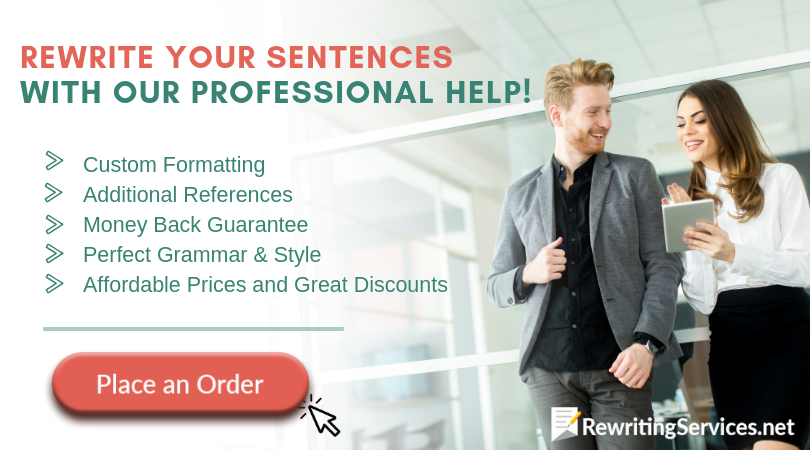 how to rewrite sentences service