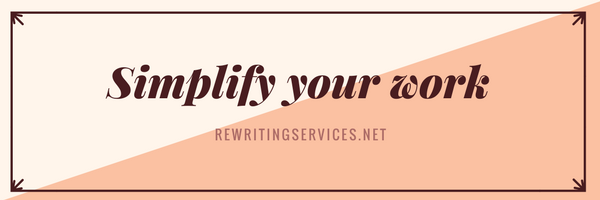 Simplify your work