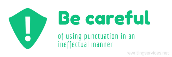 avoid mistakes with punctuations