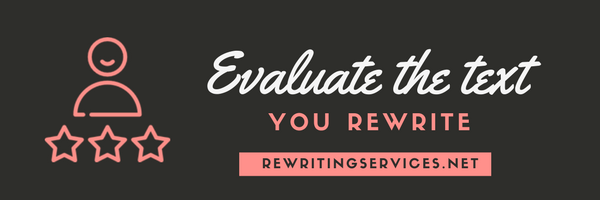 evaluate the text