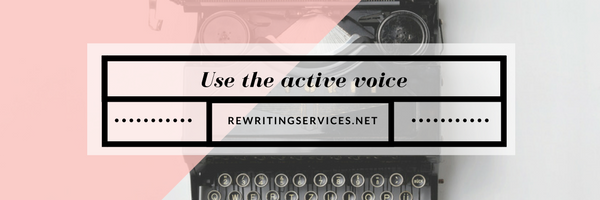 use the active voice