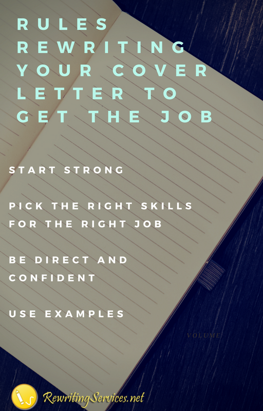rules how to reword cover letter