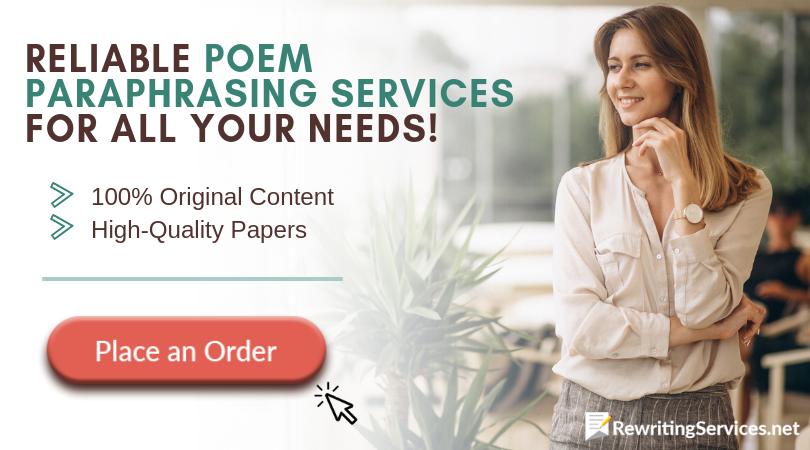 professional poem paraphrasing exercises